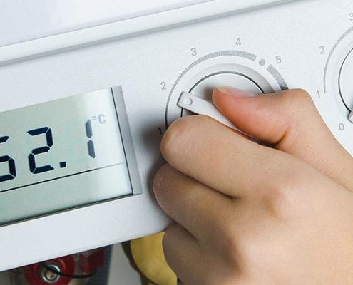 varmtvandstemperatur regulering